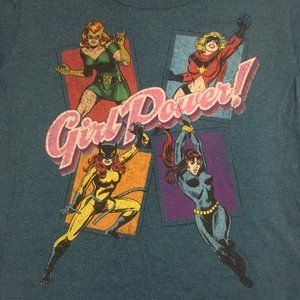 Marvel Girl Power  Fitted Organic Cotton T-shirt